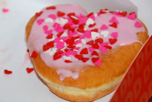 Pink Hearts filled with Boston Creme-we had these for dessert after lunch