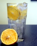 Water with fresh Florida lemons!