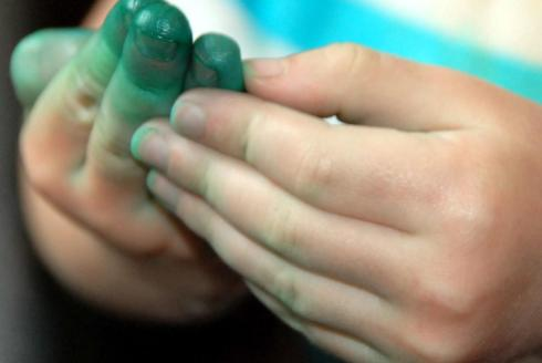 Green hands!