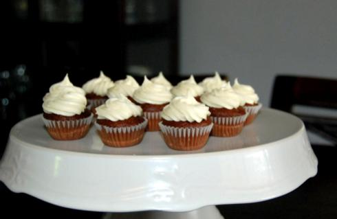 Chocolate Buttermilk Cupcakes.  You are also getting a sneak peek of our new paint colors!