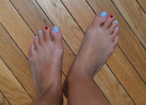 My patriotic toes!