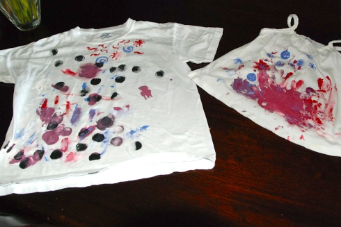 I tried to get them to paint flags on the shirts, but that was a fruitless effort!