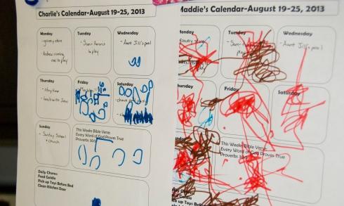 Maddie made a calendar, too!