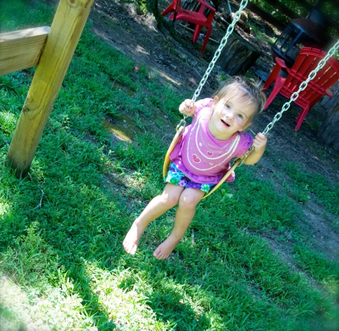 The Madster loves the big girl swing.