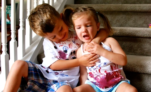 Nothing like a little love between siblings.