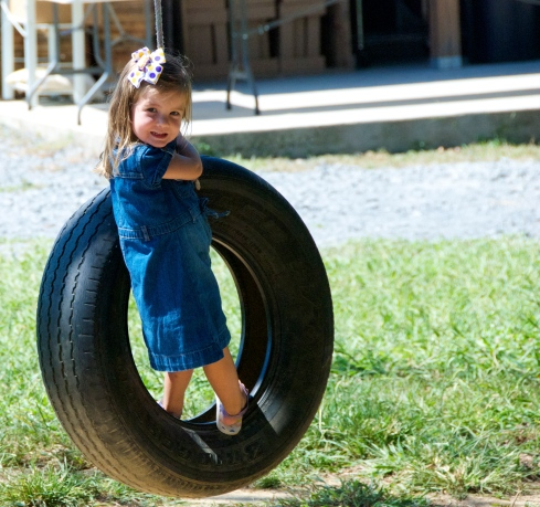 Madster loved the tire swings.  I have a feeling we are going to have one hanging up in our yard soon!