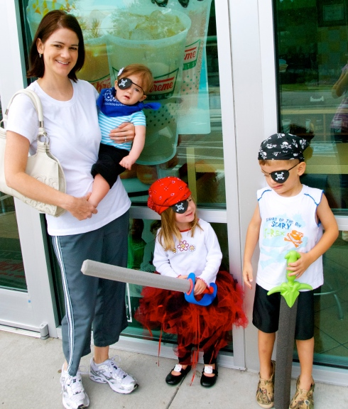 We got to hang out a lot with Jill and Addison this year, including a great day dressing up as pirates to get free doughnuts!  It has been a joy to get to know Addison this year and see Jill become a mother!