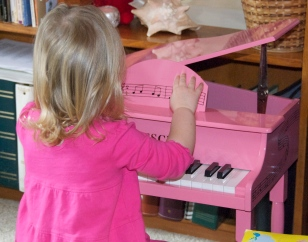"""Emma and her new """"baby"""" grand!"""