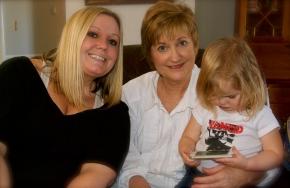 Julie, Mama, and Emma