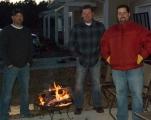 Alvin, Shannon, and Jason hard at work cooking prime rib at Sandra's.