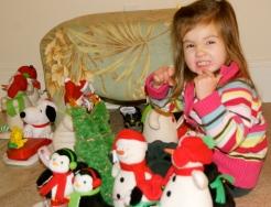 Maddie at Sandra's on Christmas night.