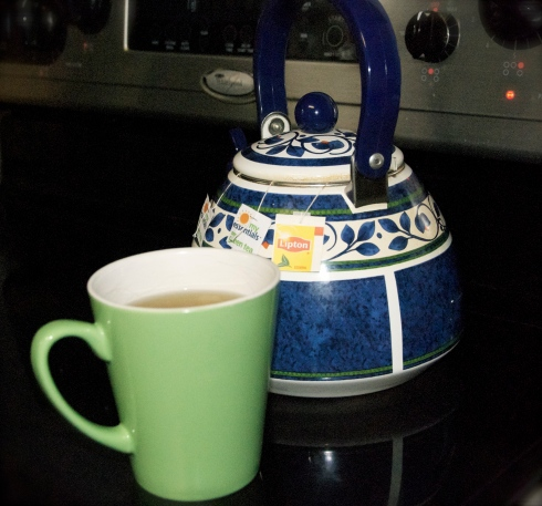 I am enjoying a nice hot pot of green tea today!