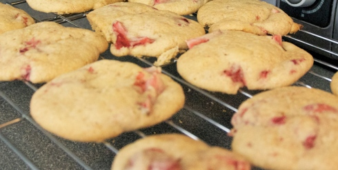 And we made these wonderful strawberry cookies!