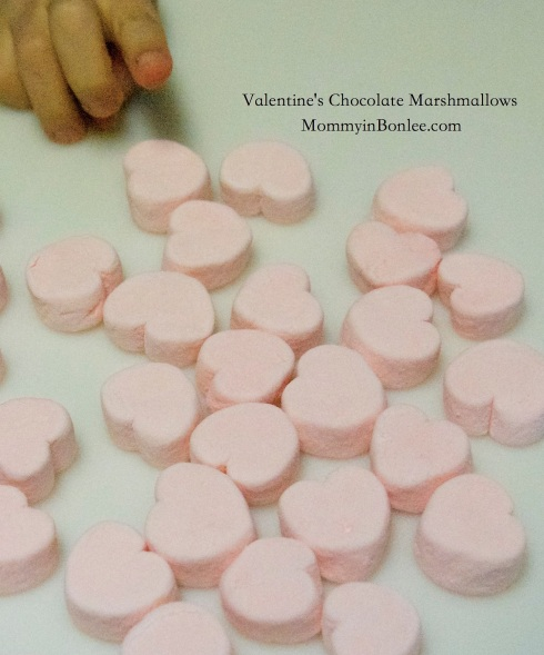 Start with these cute strawberry-flavored marshmallow hearts.